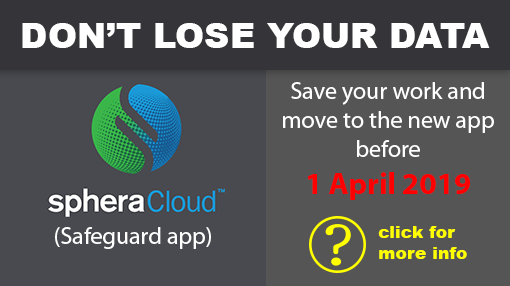 SpheraCloud new app version - backup your data